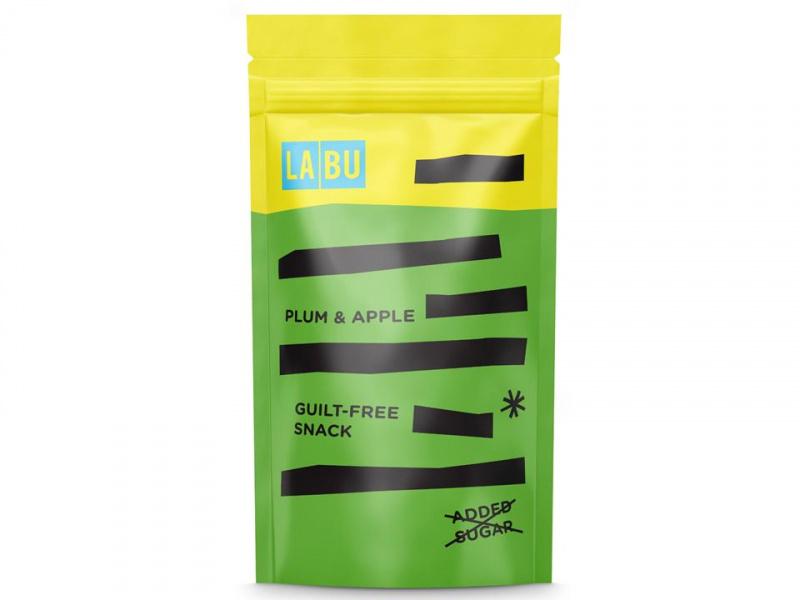 Slyvų ir obuolių tyrės LABU juostelės, 50 g