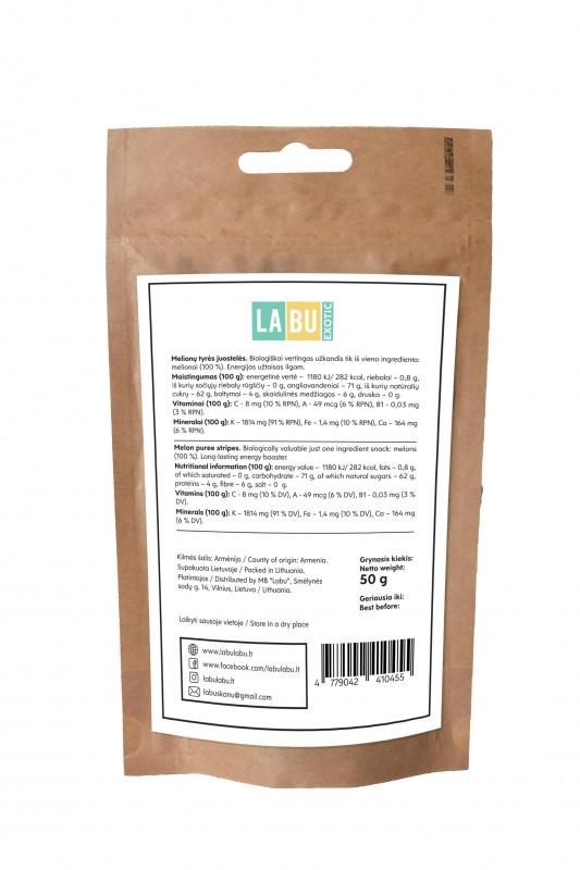 LABU EXOTIC Melionų tyrės juostelės, 50 g