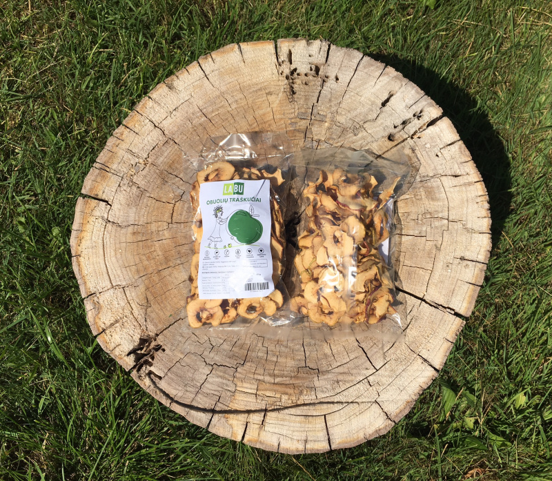 LABU obuolių traškučiai, 45 g